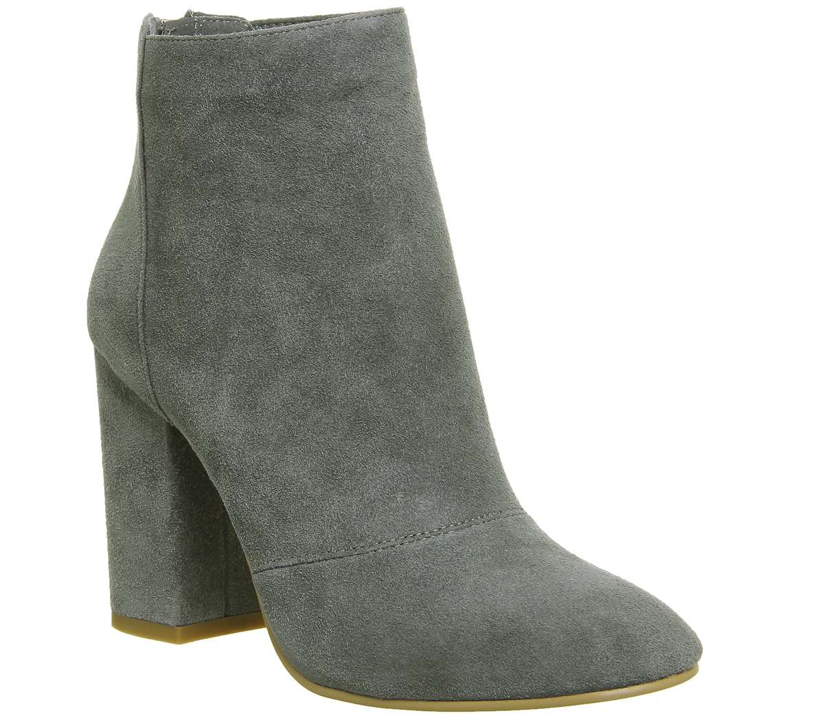 womens office aaliyah block heel boots grey suede boots ebay