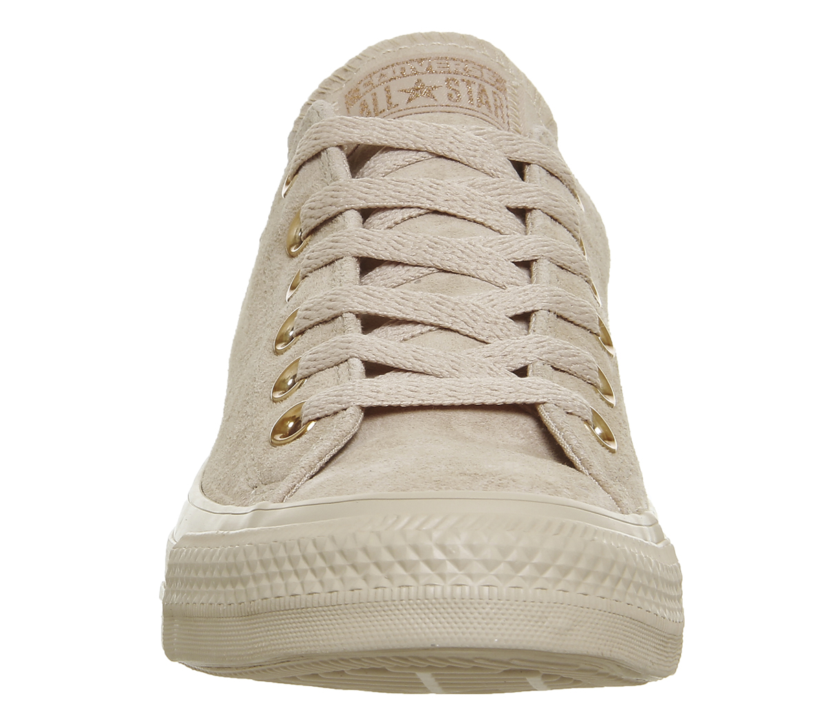 5b5deae0a1bae6 Sentinel Womens Converse All Star Low Leather BIO BEIGE VINTAGE WINE Trainers  Shoes