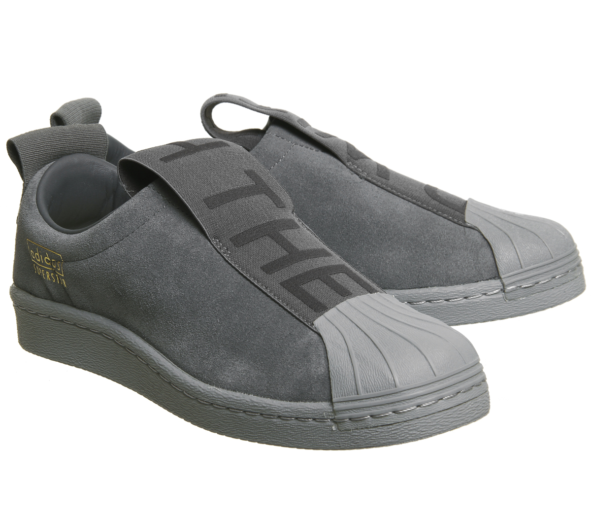 Womens Adidas Superstar Bw35 Slip On GREY FIVE MONO Trainers Shoes ... 17eb714015