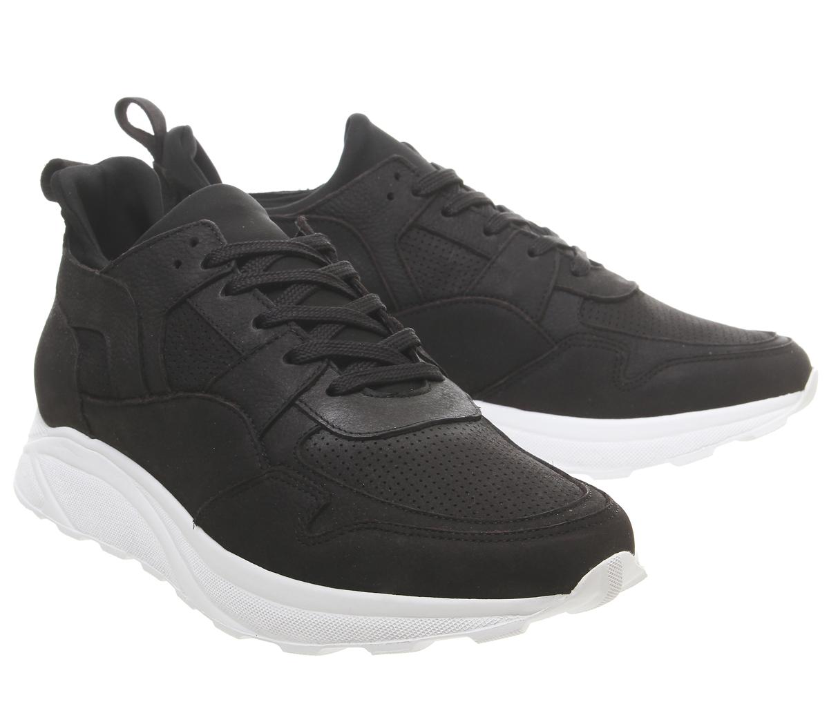 Mens-Office-Lacrosse-Trainers-Black-Nubuck-Casual-Shoes thumbnail 13