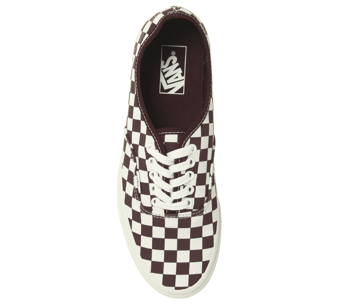 644005e3851f18 Sentinel Mens Vans Authentic Trainers Port Royale Marshmellow Checkerboard Trainers  Shoes