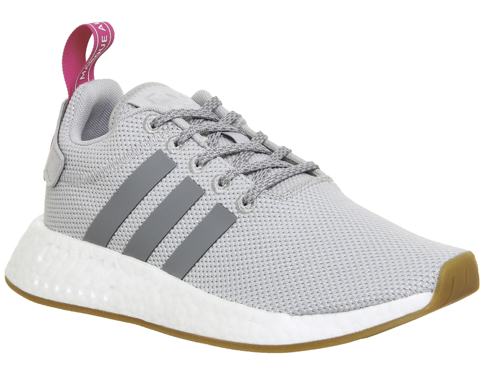 Sentinel Womens Adidas Nmd R2 Trainers GREY TWO PINK Trainers Shoes 434f4cdaa