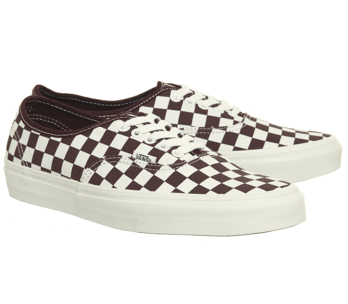cbfbf66705 Mens Vans Authentic Trainers Port Royale Marshmellow Checkerboard ...