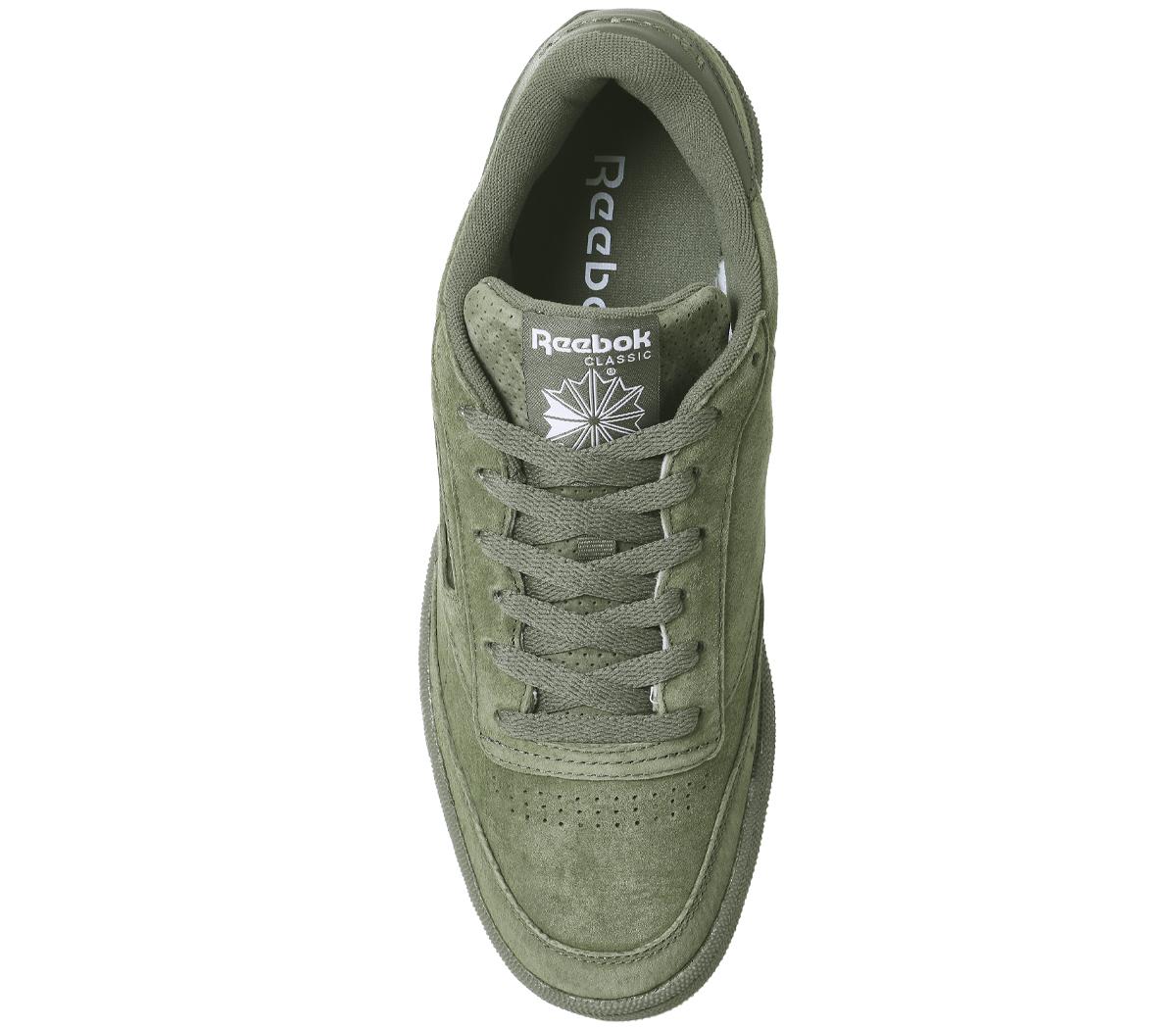 6b25b292bc4 Reebok Club C85 Trainers HUNTER GREEN GUM SG Trainers Shoes