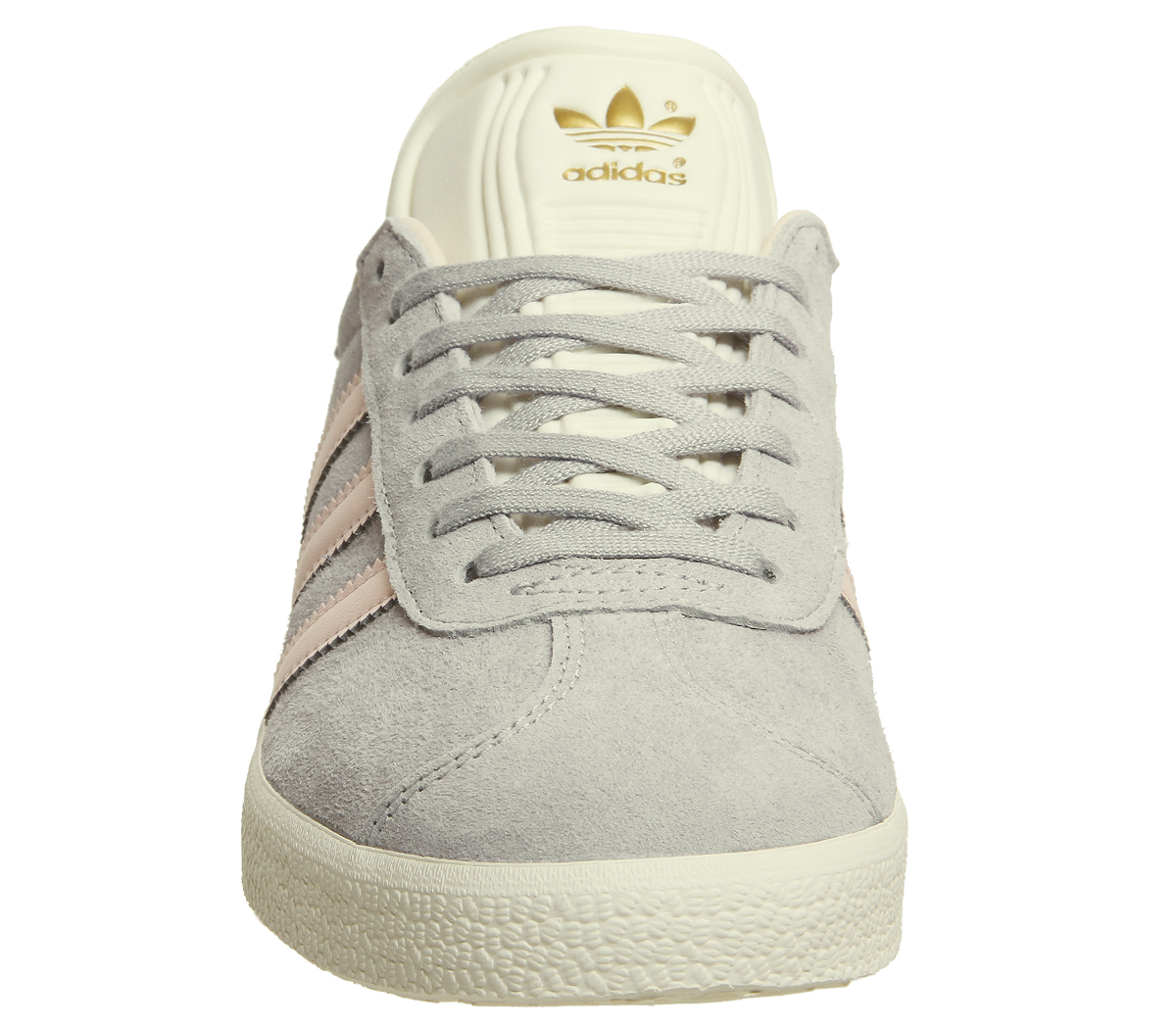 b0b14bc3eef0 Sentinel Womens Adidas Gazelle Trainers Grey Two Icey Pink Cream White  Exclusive Trainers