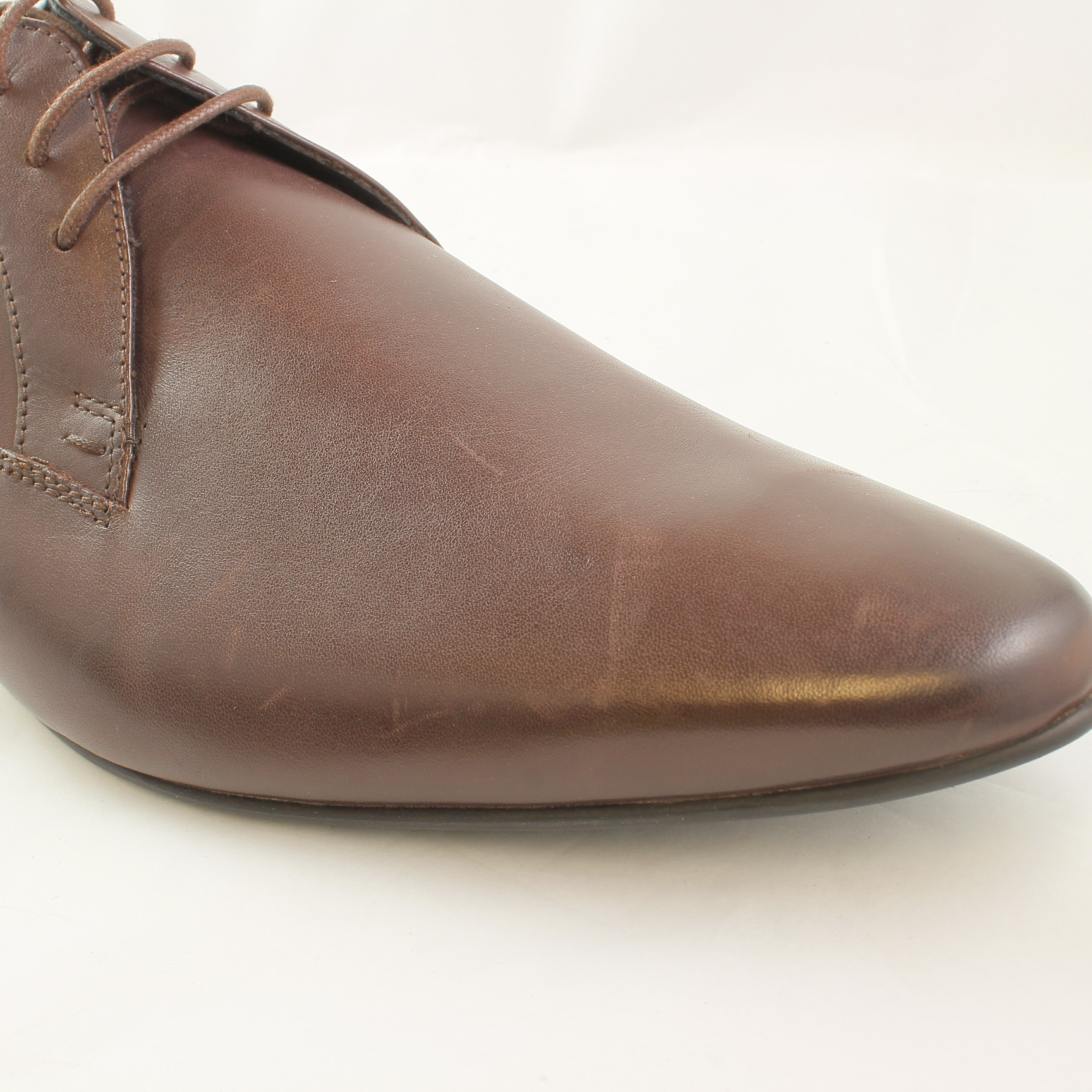mens office boom point brown leather formal shoes size 13