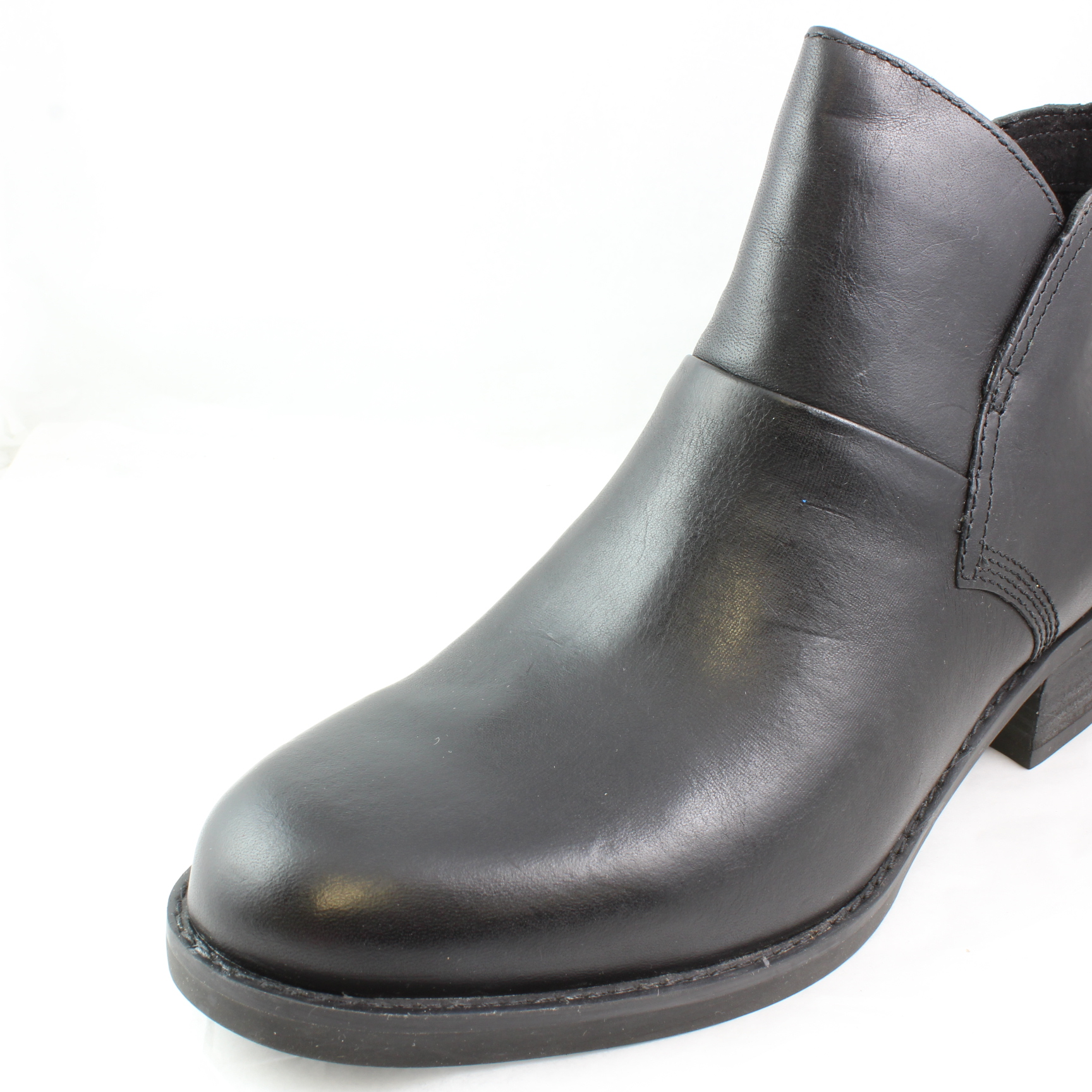 womens timberland black leather ankle boots uk size 5 ex