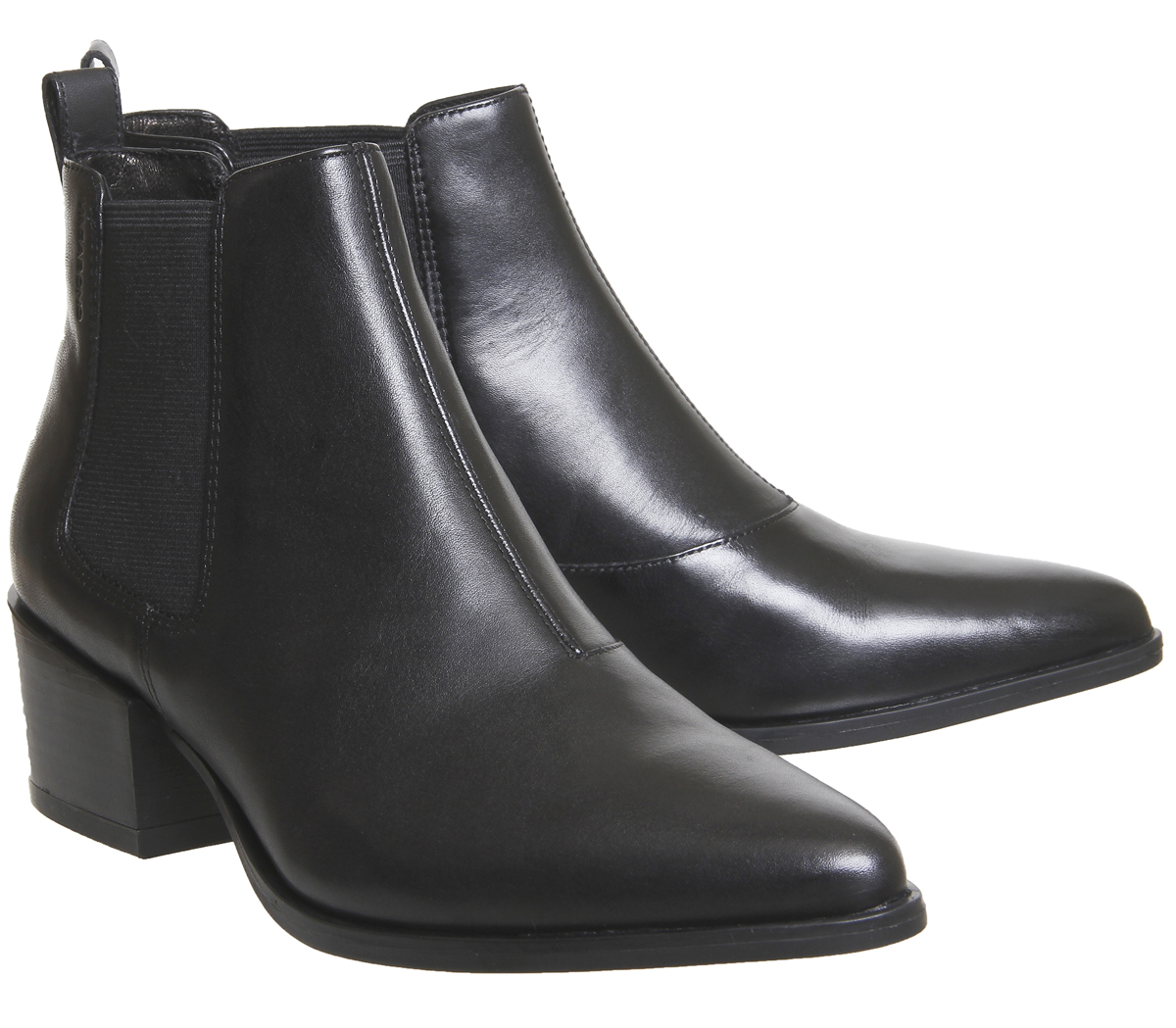 aa1321603ef Details about Womens Vagabond Marja Ankle Boots Black Leather Boots