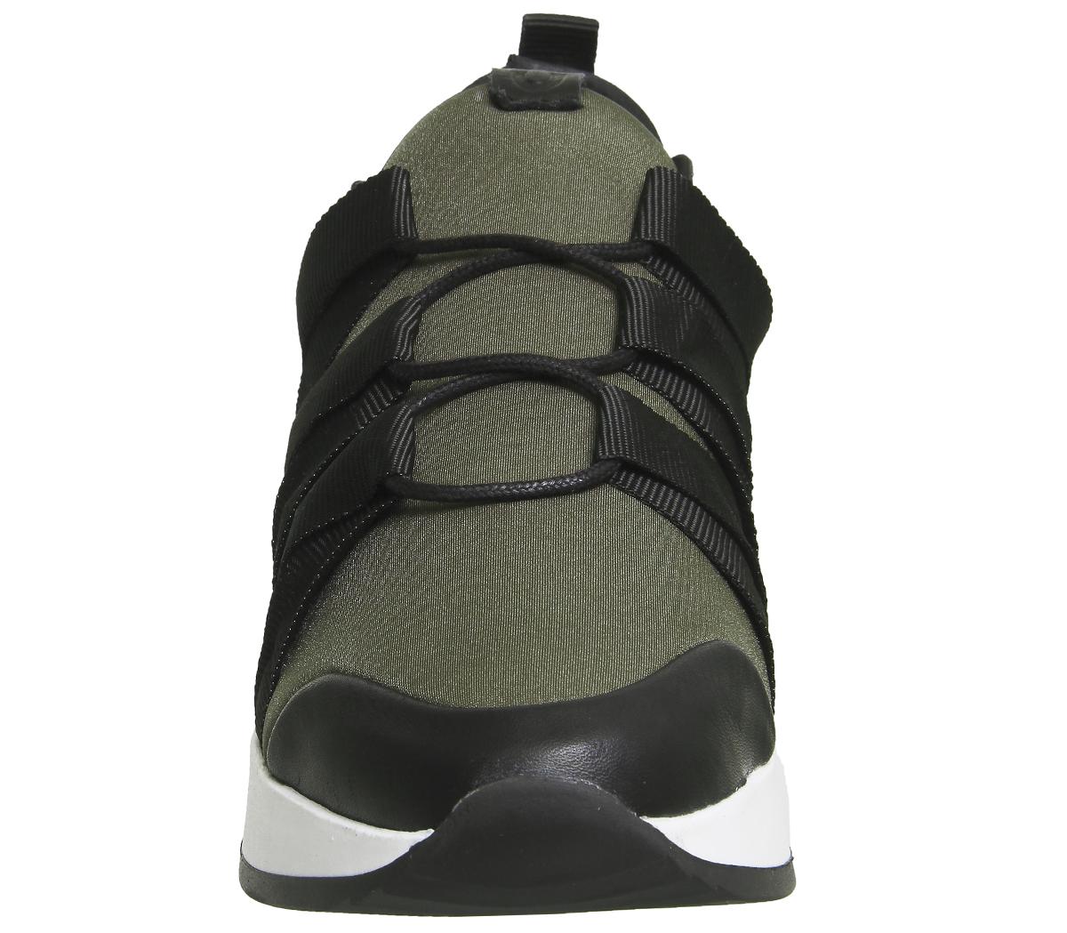 Damenschuhe Oki BLACK Kutsu Rikuto lace Up Runner BLACK Oki KHAKI Trainers Schuhes f26ca2