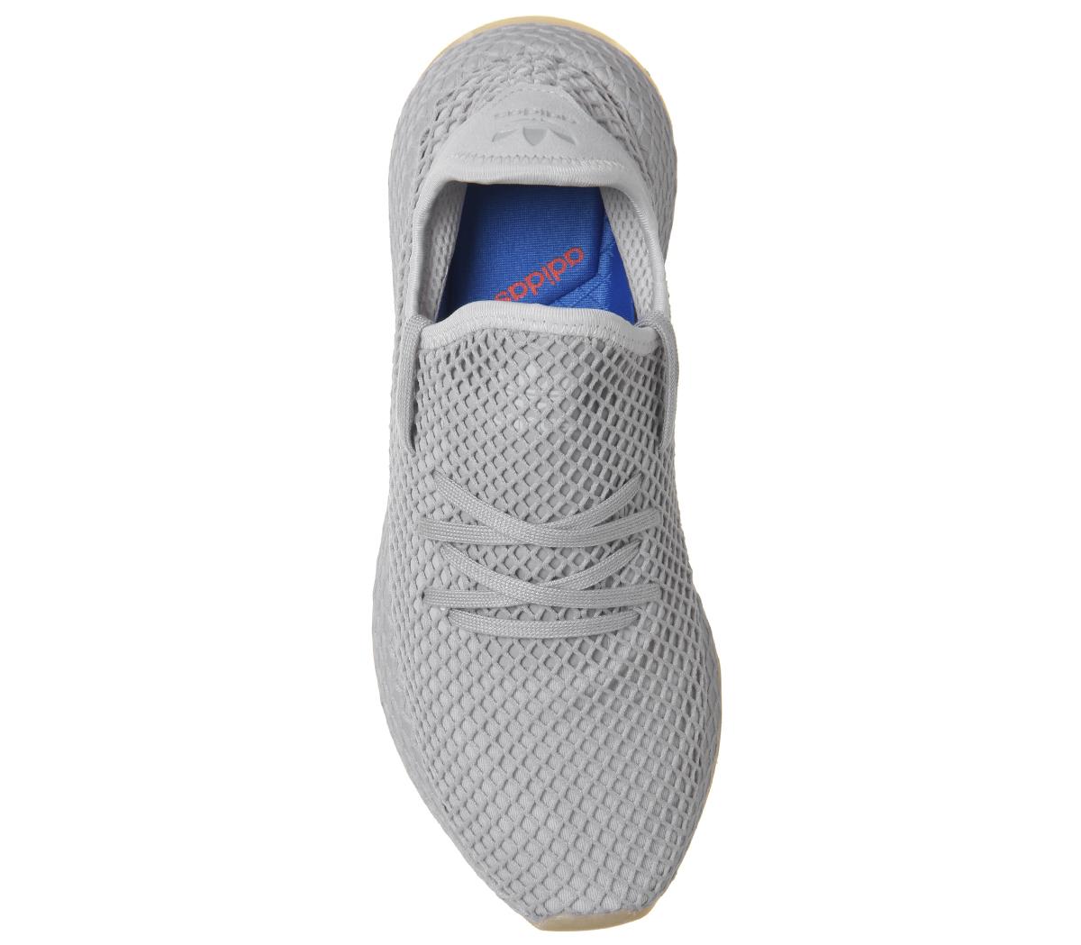 Wo Hommes Adidas Deerupt gris Trainers gris gris Deerupt GUM Trainers Chaussures 12f19d