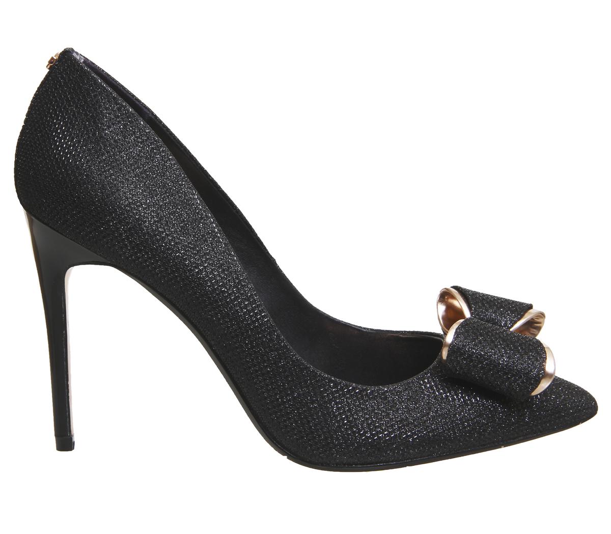 cd353e9f40e2fe Womens Ted Baker Azeline Heels BLACK TEXTILE Heels