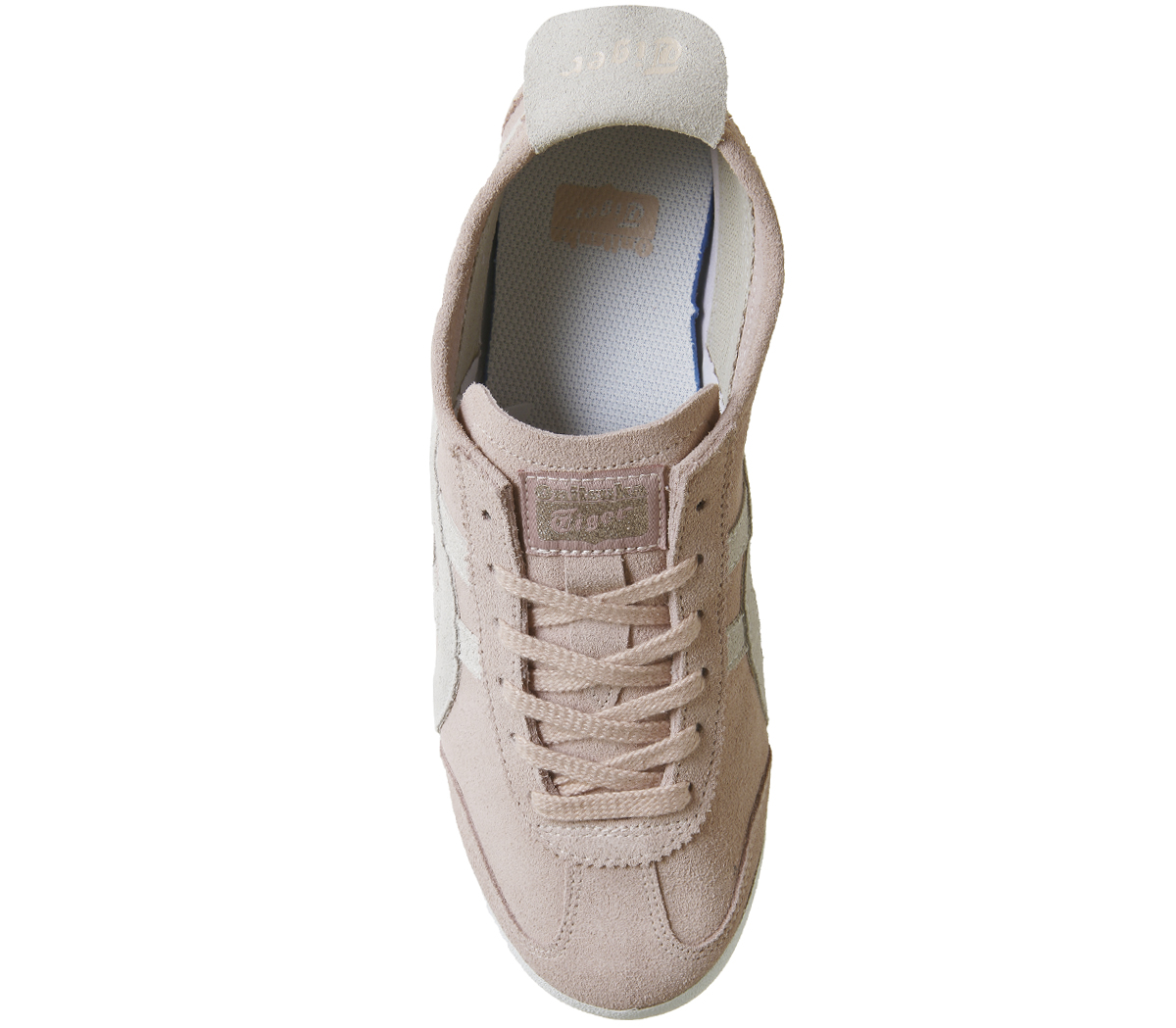 cb3f357b6ba36 Sentinel Womens Onitsuka Tiger Mexico 66 Trainers Pink Grey Suede Trainers  Shoes