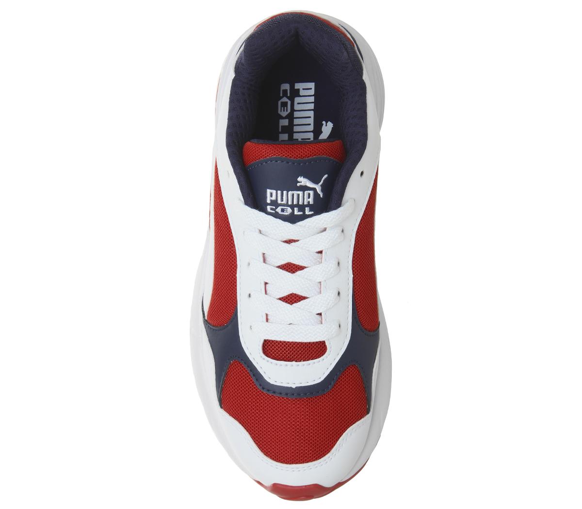 Homme-Puma-Cell-Viper-Baskets-PUMA-blanc-Risque-Eleve-Rouge-Baskets miniature 8
