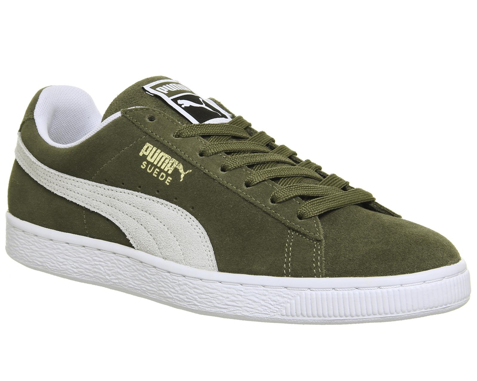 Puma - Zapatillas para hombre verde verde oliva, color verde, talla 44