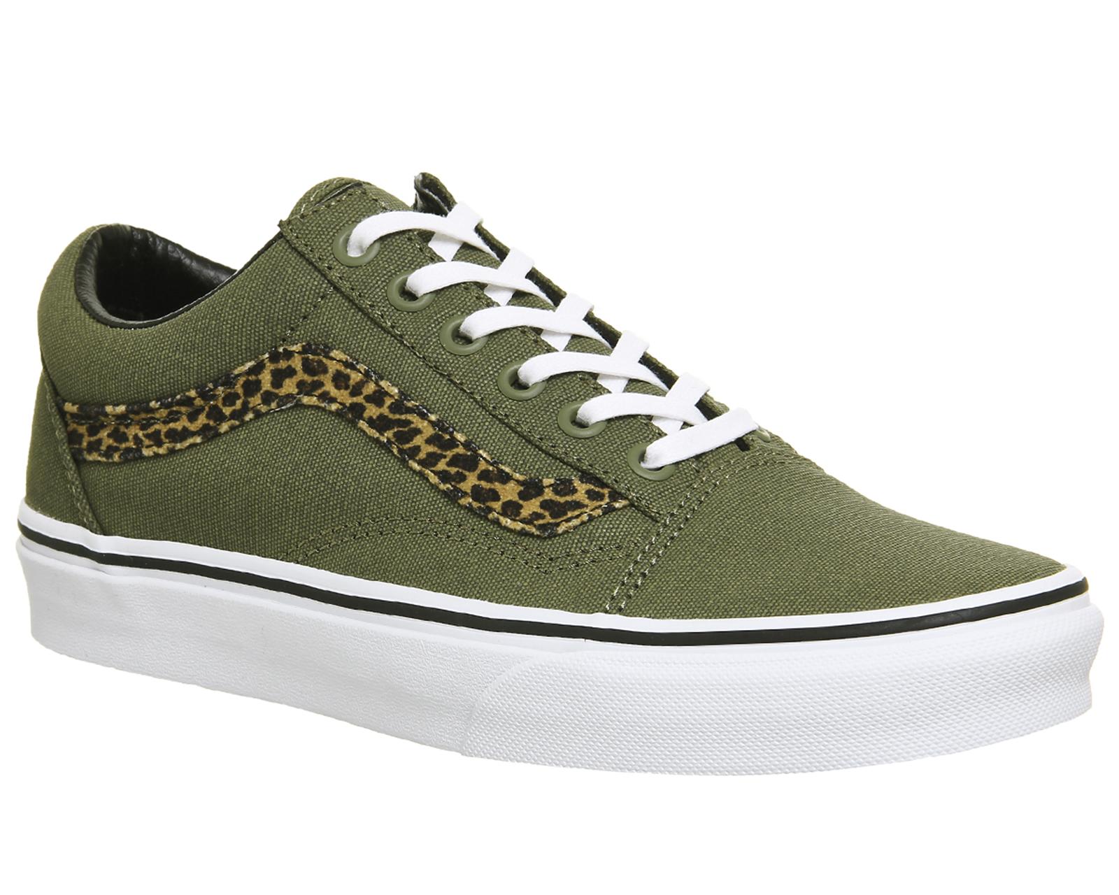 vans old skool leopardo mujer