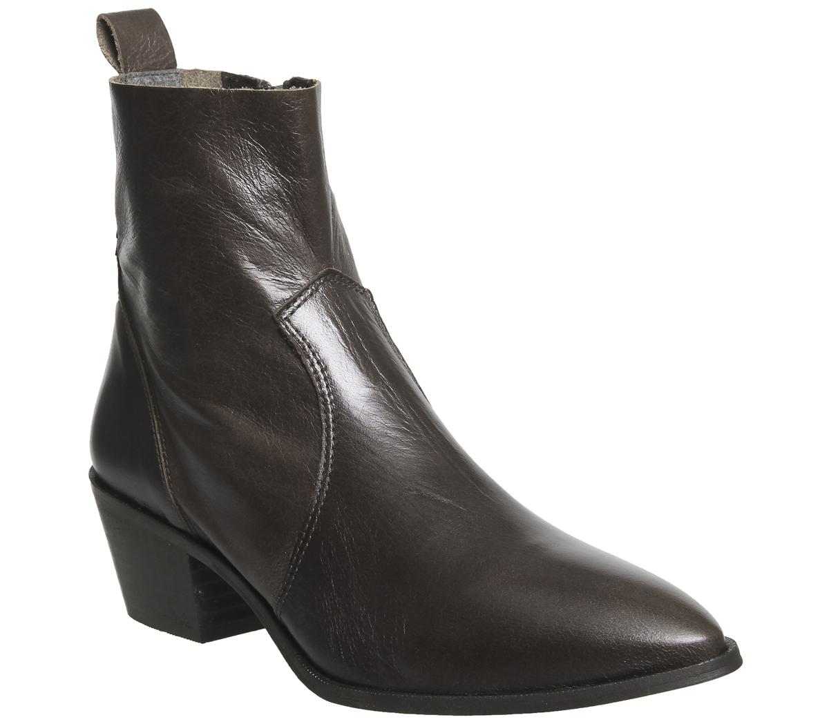 la coupe coupe coupe élevé bureau auburn bottes en cuir pour dames non chocolat | Emballage Solide  39908d