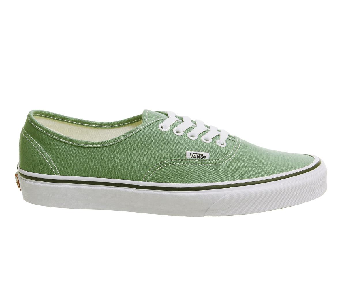 d76b6a50b9ca5 SENTINEL Mens Vans autentici formatori verde intenso di erba vera  allenatori bianco scarpe