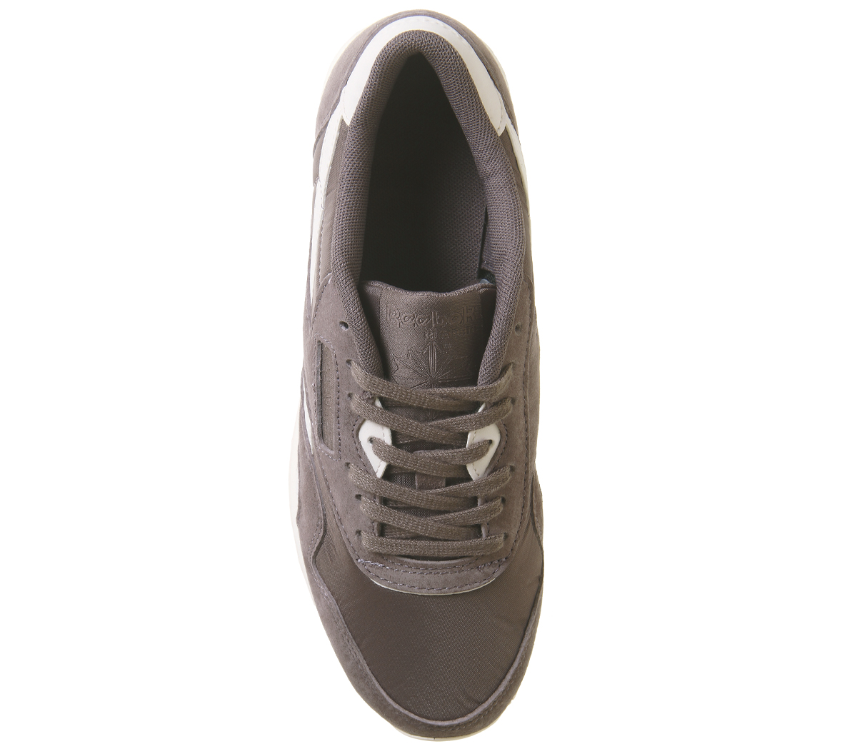 4546c472ec2 Womens Reebok Cl Nylon Trainers Almost Grey Pale Pink Trainers Shoes ...