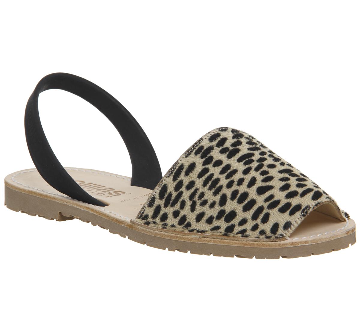 cdacd29db720 Sentinel Womens Solillas Solillas Sandals Leopard Black Back Strap Sandals