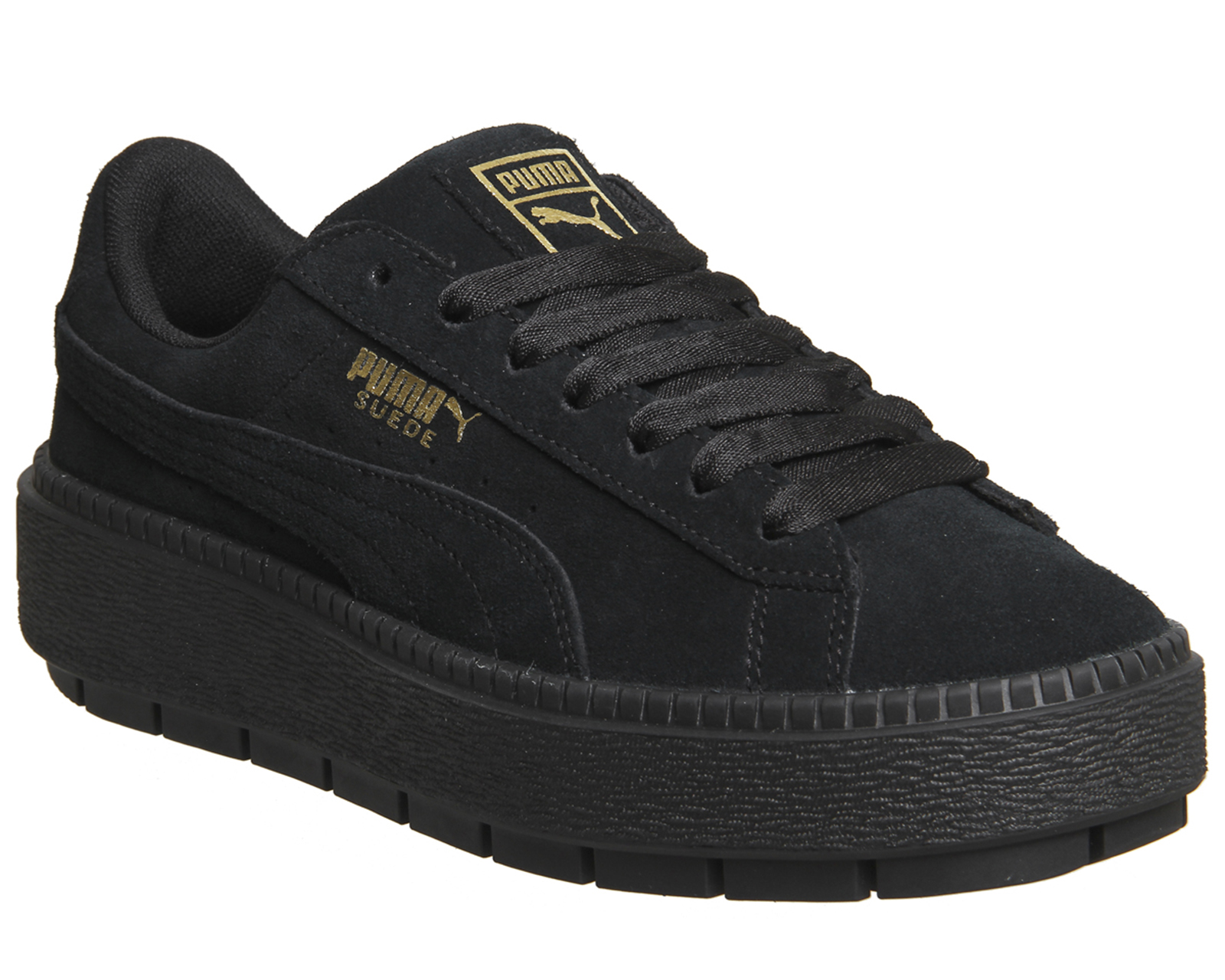 06a1e69e682 Sentinel Womens Puma Suede Platform Trace Trainers PUMA BLACK Trainers Shoes