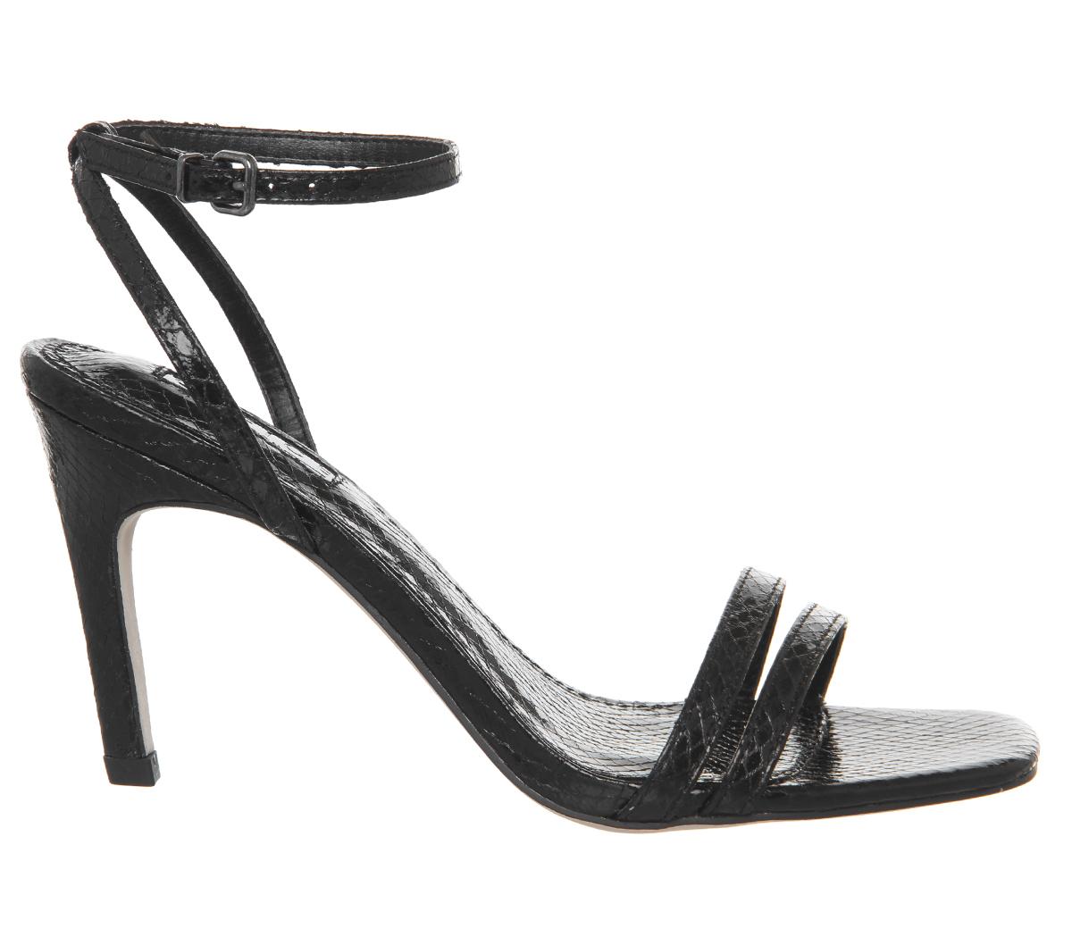 Mojito Snake Toe Square Womens Black Office Heels Pq6wSp