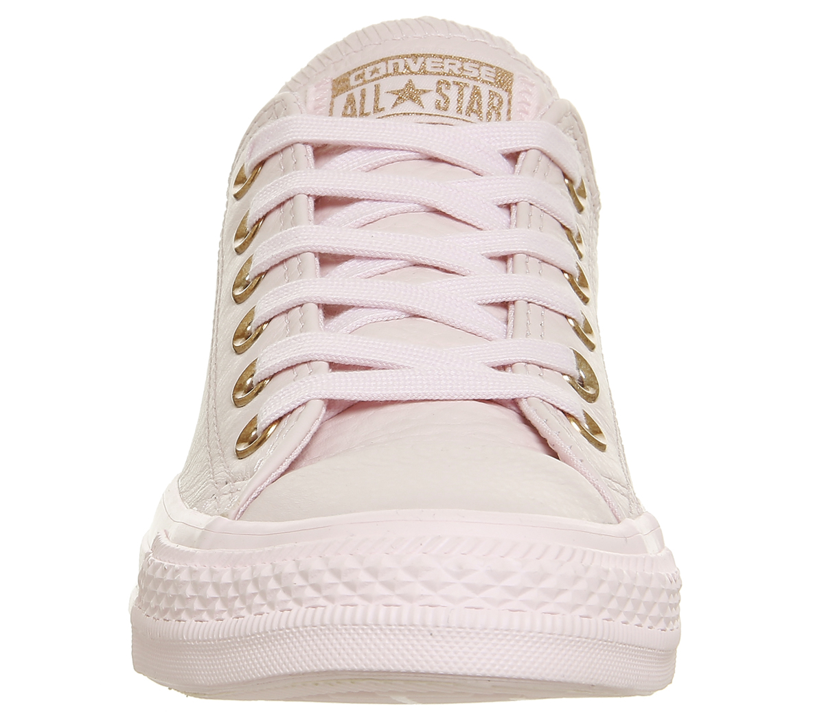 14869e36b957 Sentinel Womens Converse All Star Low Leather ARTIC PINK ROSE GOLD Trainers  Shoes