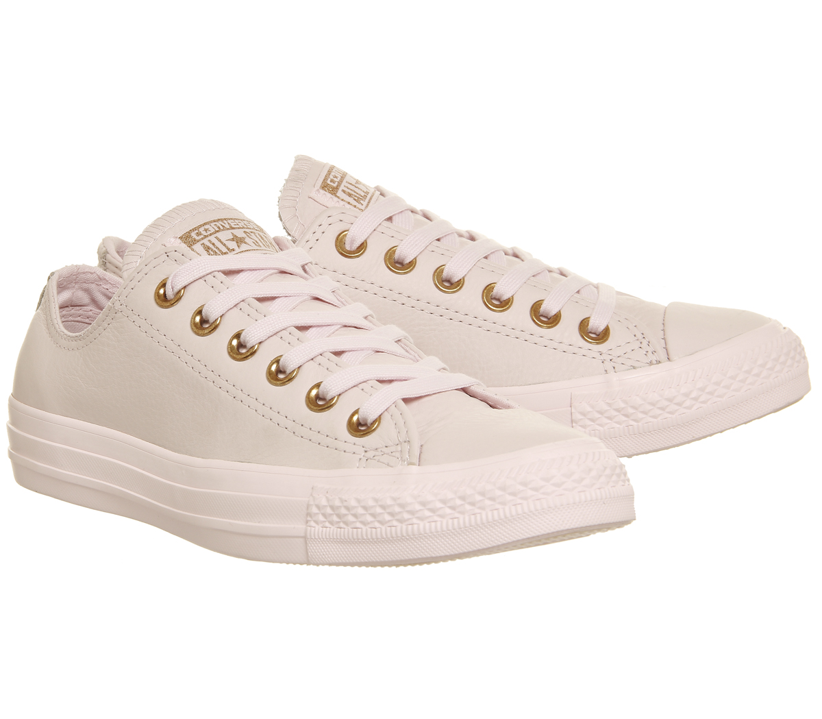 c76cbb0936c961 Sentinel Womens Converse All Star Low Leather ARTIC PINK ROSE GOLD Trainers  Shoes