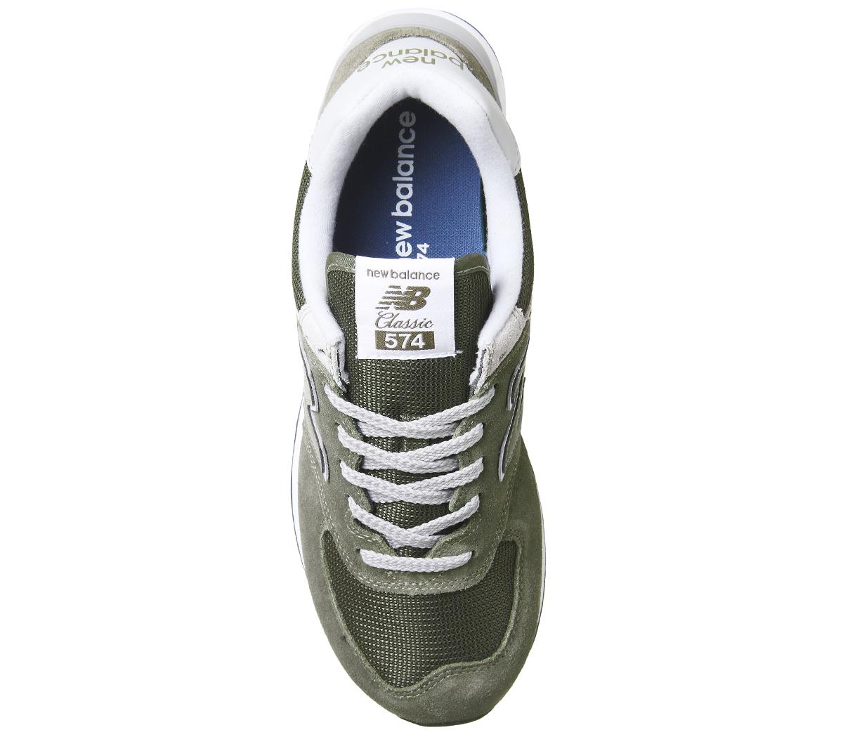 afb51fcab Sentinel New Balance 574 Trainers KHAKI Trainers Shoes