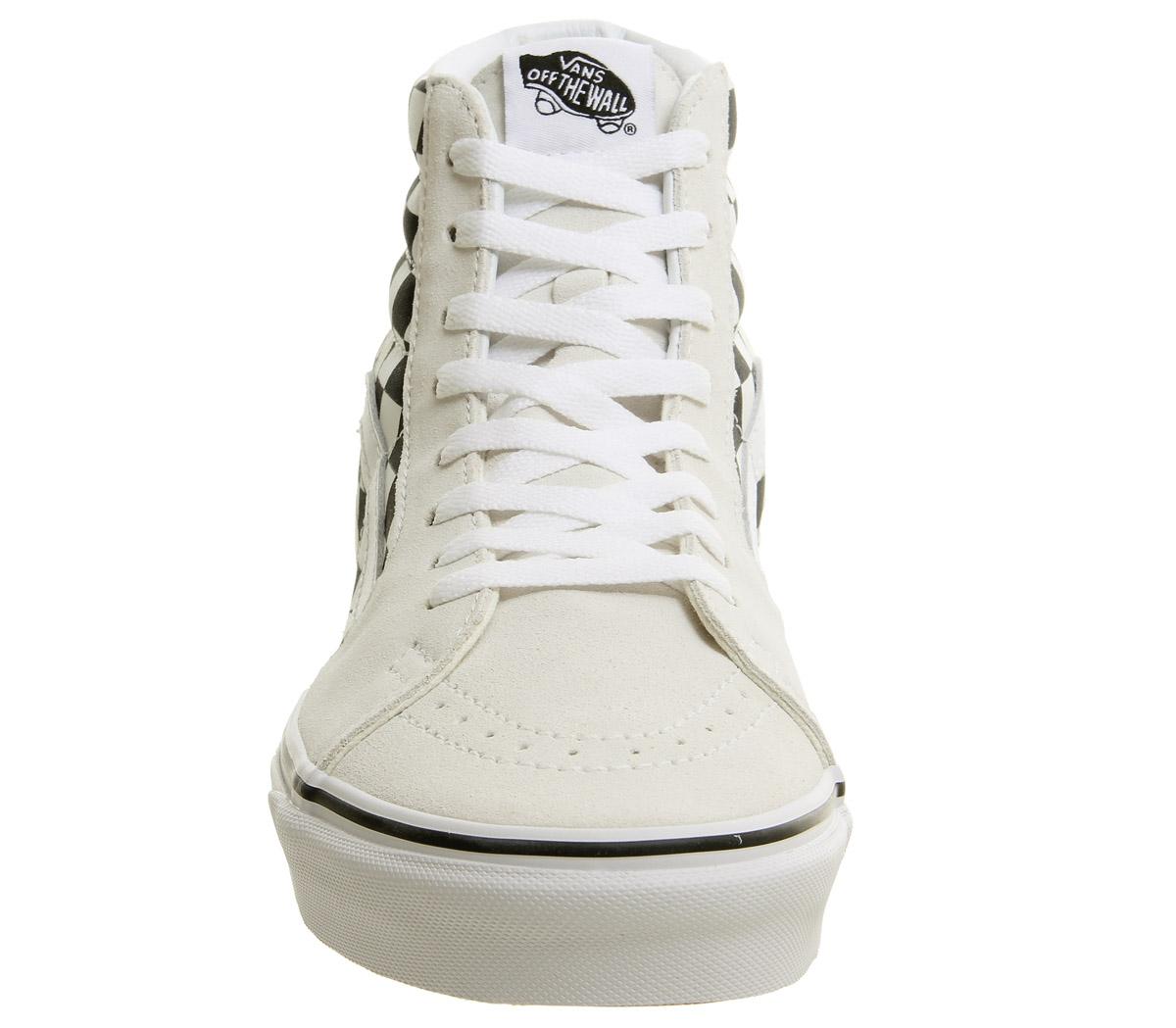 Herren Vans Sk8 Hi Hi Sk8 Trainers CLASSIC Weiß FLAME CHECKER Trainers Schuhes 1fca76