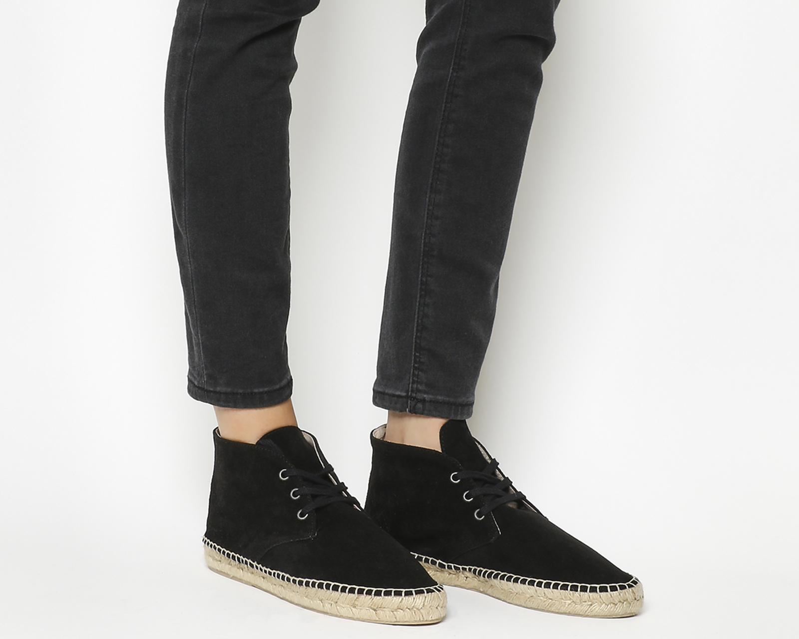 e4c1693a1d56 Sentinel Womens Solillas Espadrille Boot Black Suede Sandals