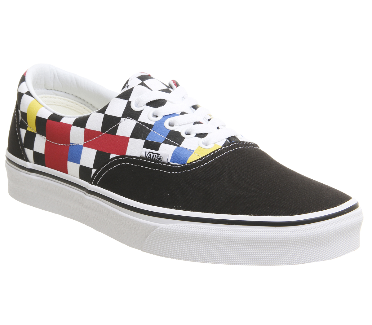a9832cea779 Sentinel Mens Vans Era Trainers Geometric Black Multi True White Exclusive  Trainers Shoes