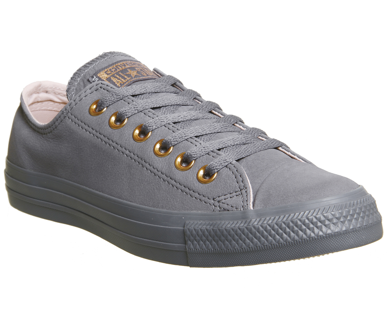 72ccf443360c Sentinel Womens Converse All Star Low Leather Light Carbon Potpourri  Trainers Shoes