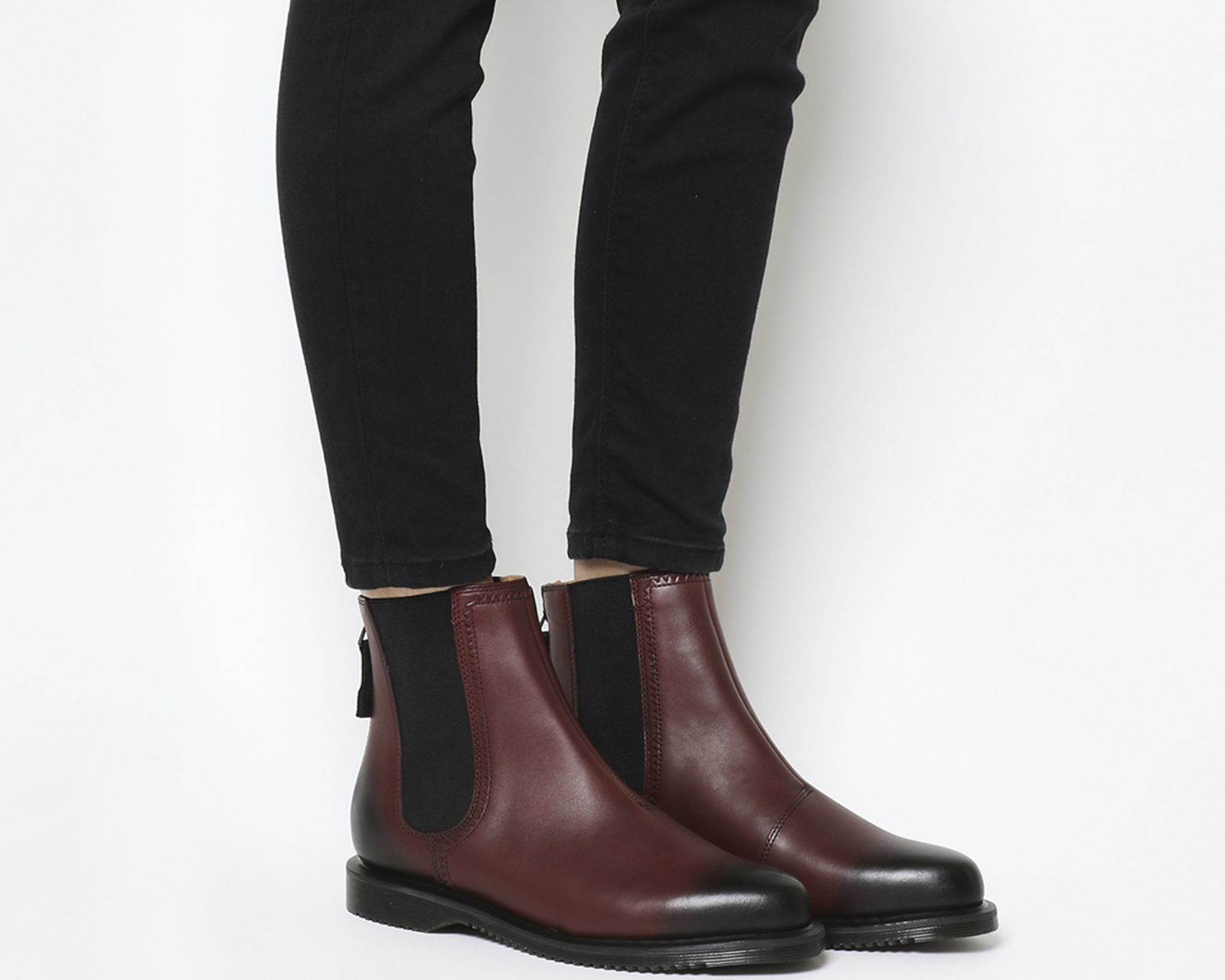 dc990ae2ec3 Sentinel Womens Dr. Martens Zillow Chelsea Boots Cherry Red Boots