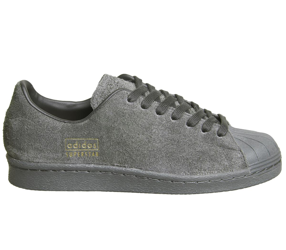 Donna Adidas Originals Superstar anni'80 Scarpe Da Ginnastica in Nero Utility