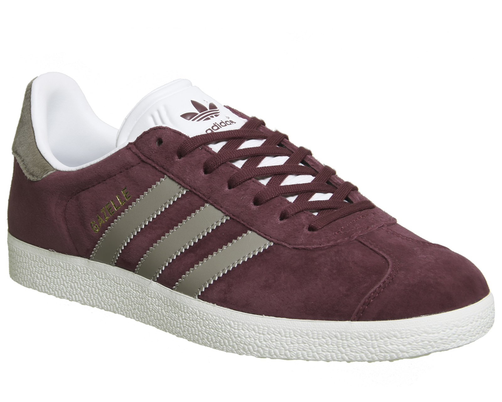 Sentinel Womens Adidas Gazelle Trainers COLLEGIATE BURGUNDY VAPOUR GREY  Trainers Shoes 00be304ac