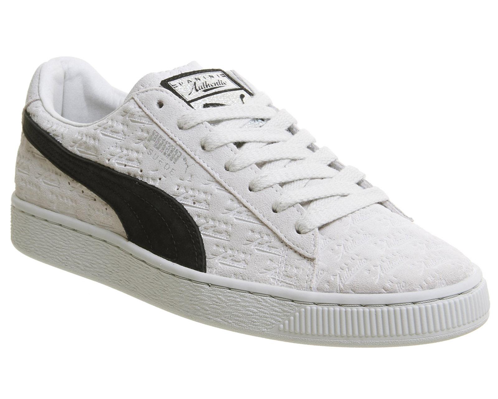 6cb405a100c4c2 Sentinel Puma Suede Classic Trainers Panini White Black Trainers Shoes