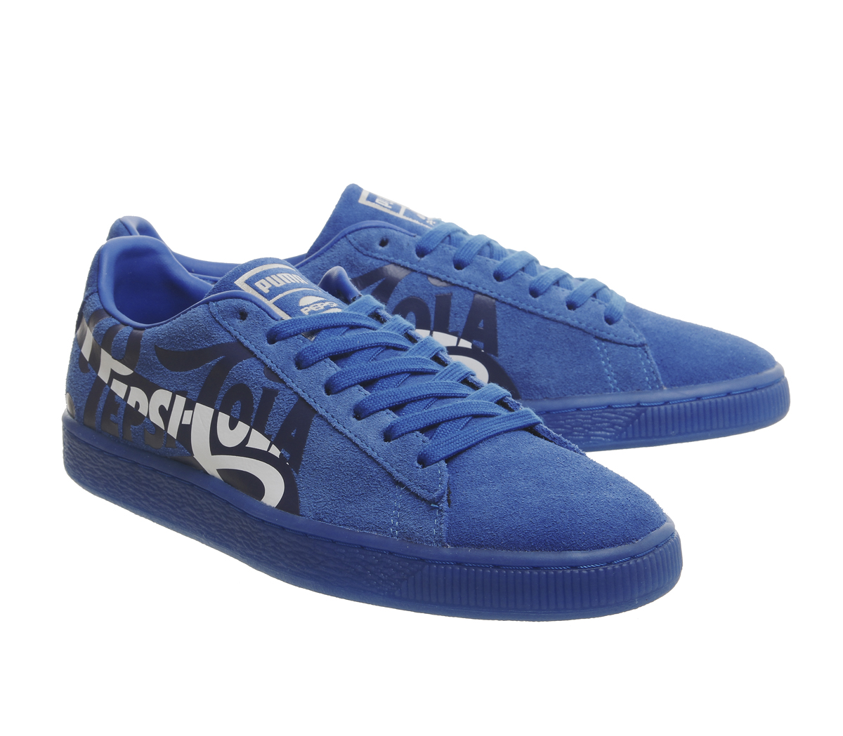 7e340922609 Sentinel Mens Puma Suede Classic Trainers Pepsi Clean Blue Puma Silver  Trainers Shoes