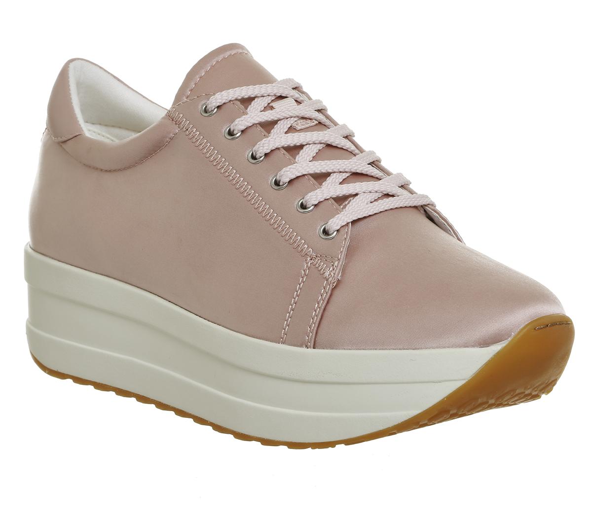 SENTINEL Vagabond Womens Casey flatform polvere allenatori raso rosa scarpe 54b8c9bceed