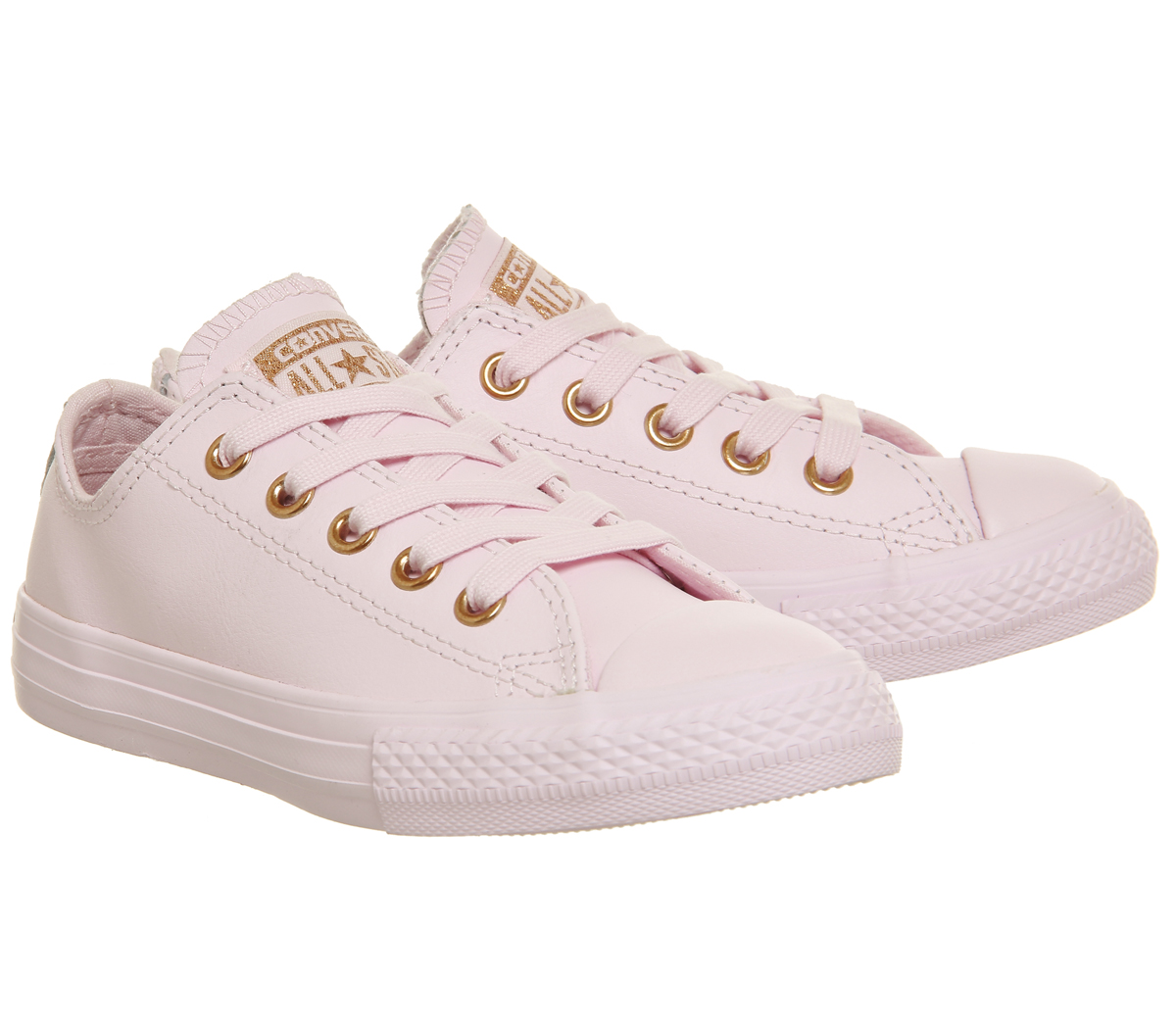 3b3659ca9996 Sentinel Kids Converse All Star Ox Leather Kids Artic Pink Rose Gold Kids