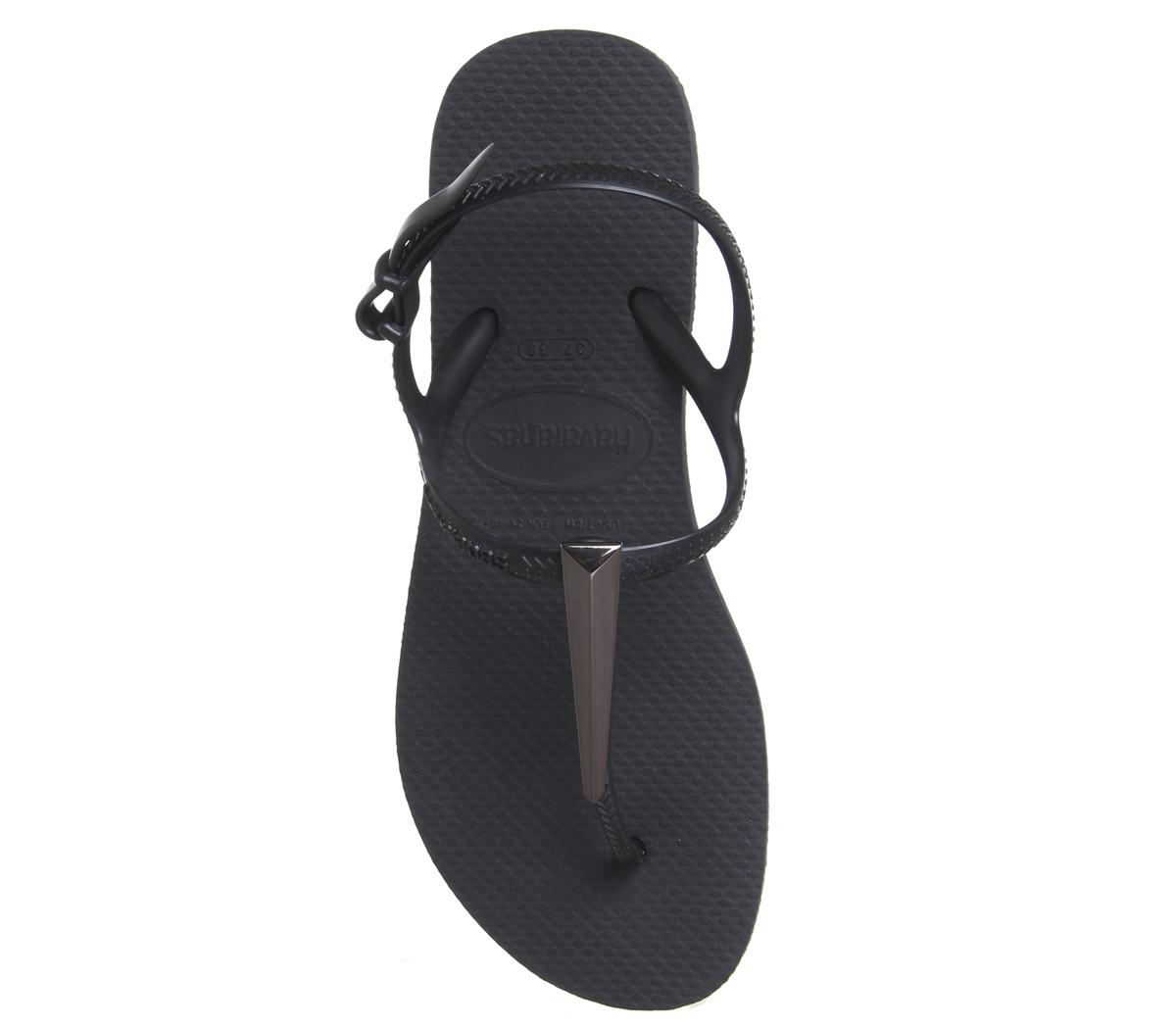 df5958b7a8f Womens-Havaianas-Freedom-Sl-Maxi-Black-Sandals thumbnail 6