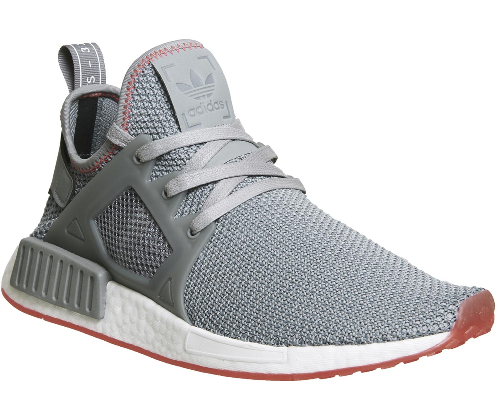 ead398aa488 Adidas Nmd Xr1 GREY GREY SOLAR RED Trainers Shoes