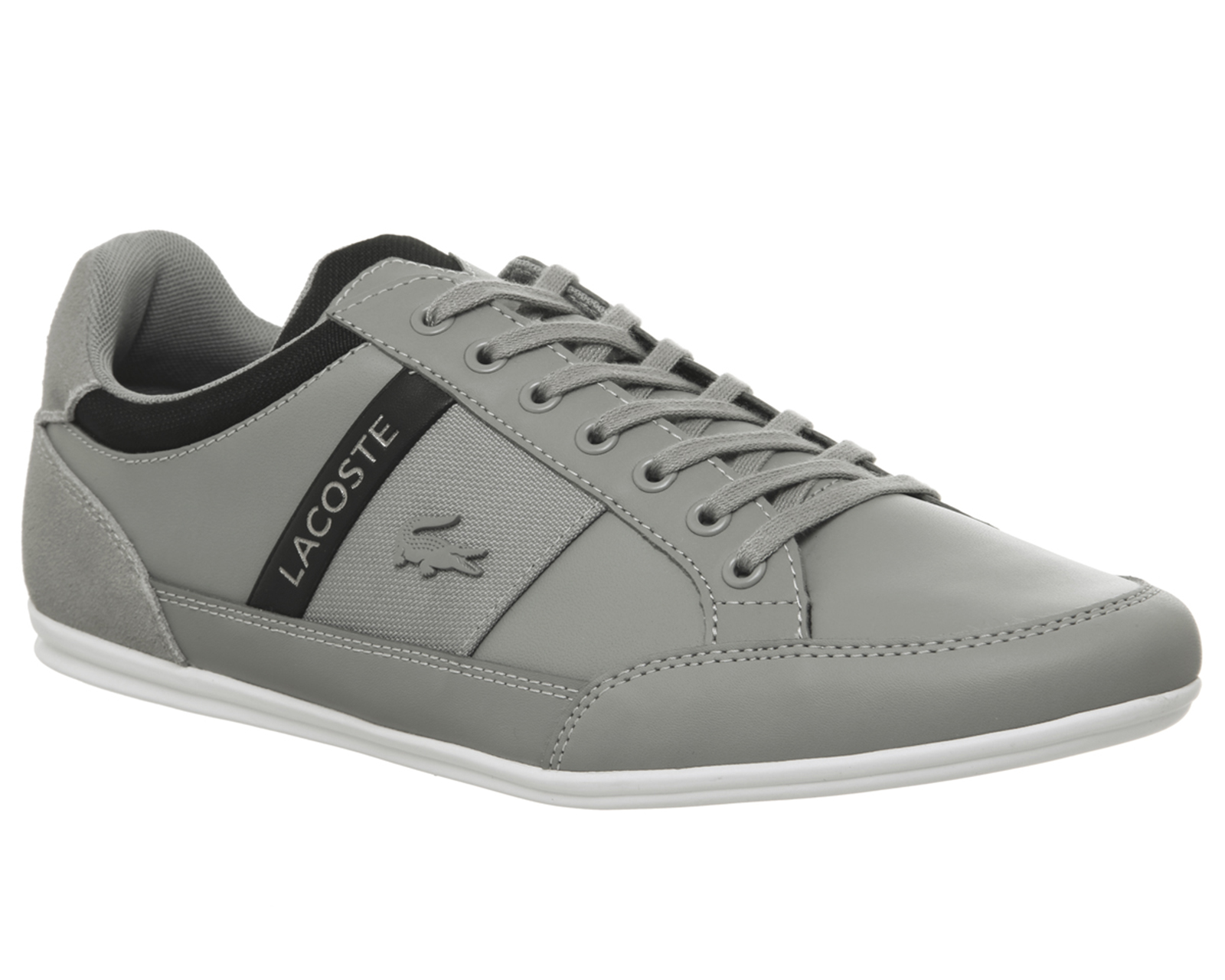 cdebb99b8dcf Lacoste Chaymon Trainers Grey Black Trainers Shoes