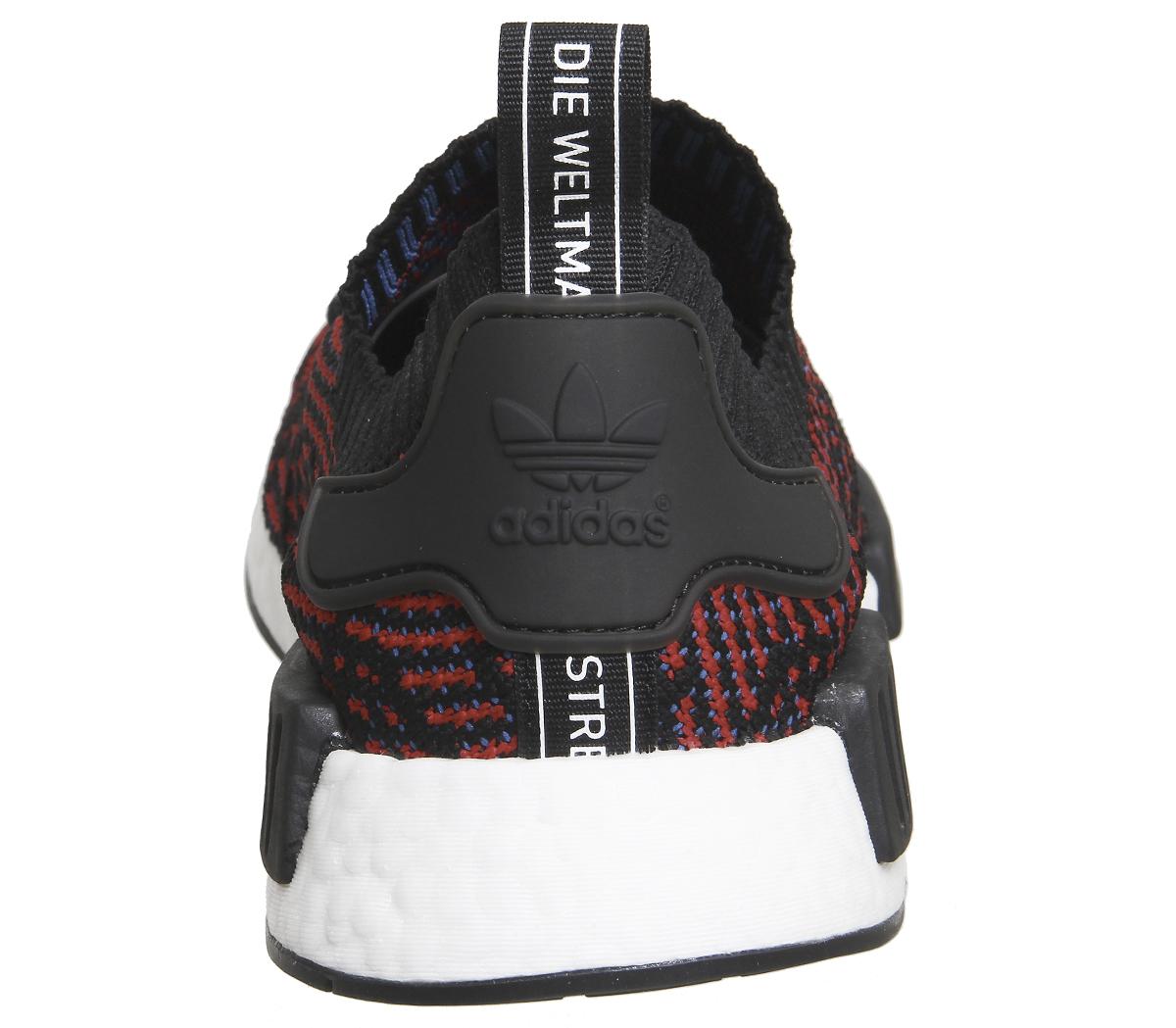Adidas-Nmd-R1-Knit-Core-Nero-Prime-Scarpe-da-ginnastica-Rosso