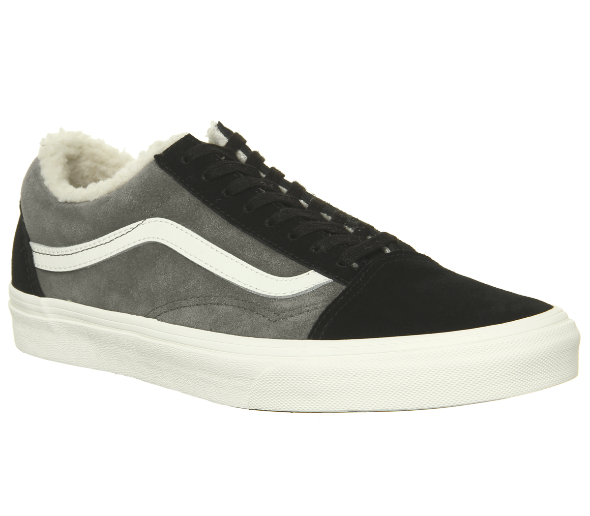 eb99e1037201b0 Sentinel Mens Vans Old Skool Trainers Black Pewter Sherpa Trainers Shoes