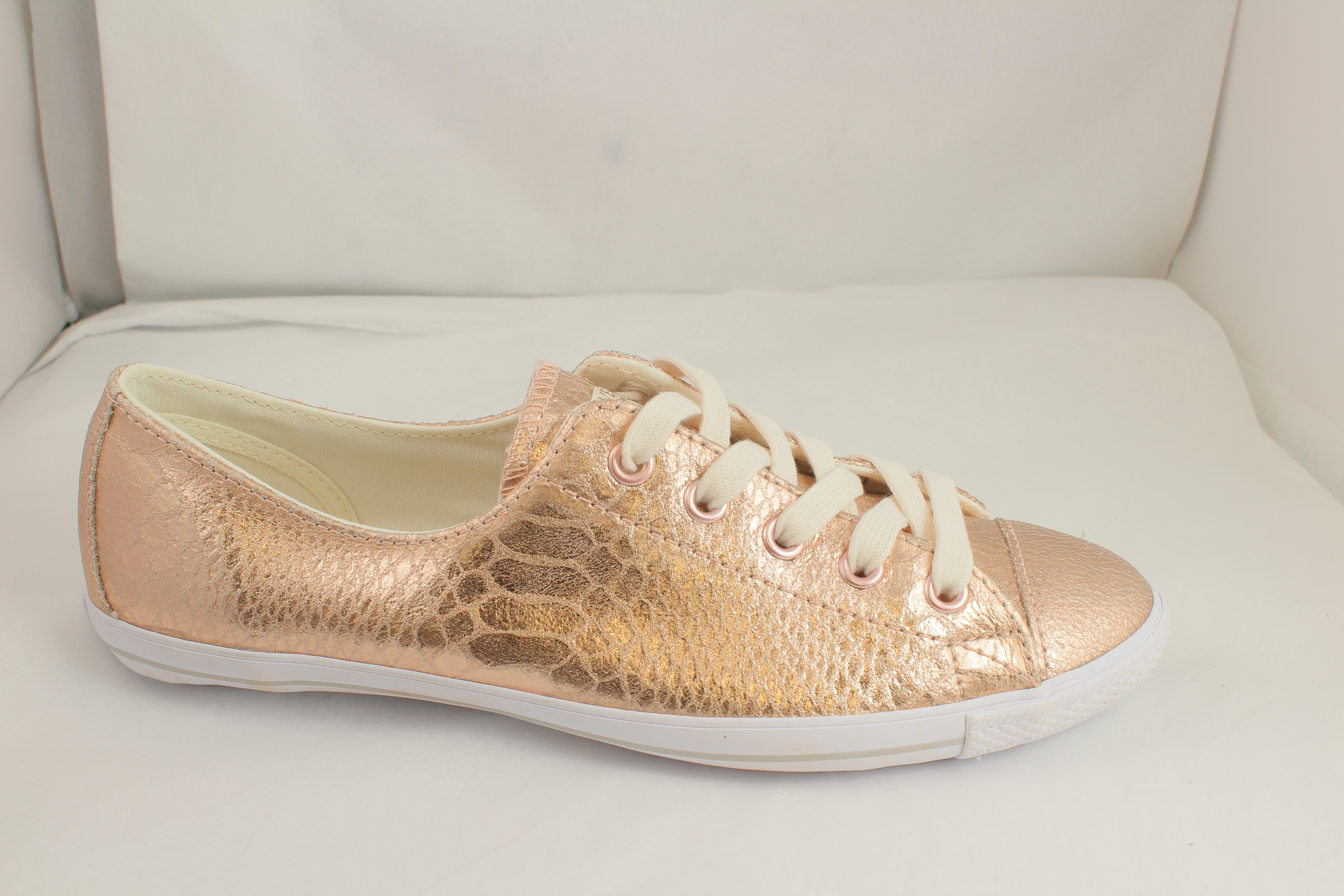 b81a0d00368a Sentinel Womens Converse Ct Lite 2 Rose Metallic Snake Trainers UK Size  5 Ex Display
