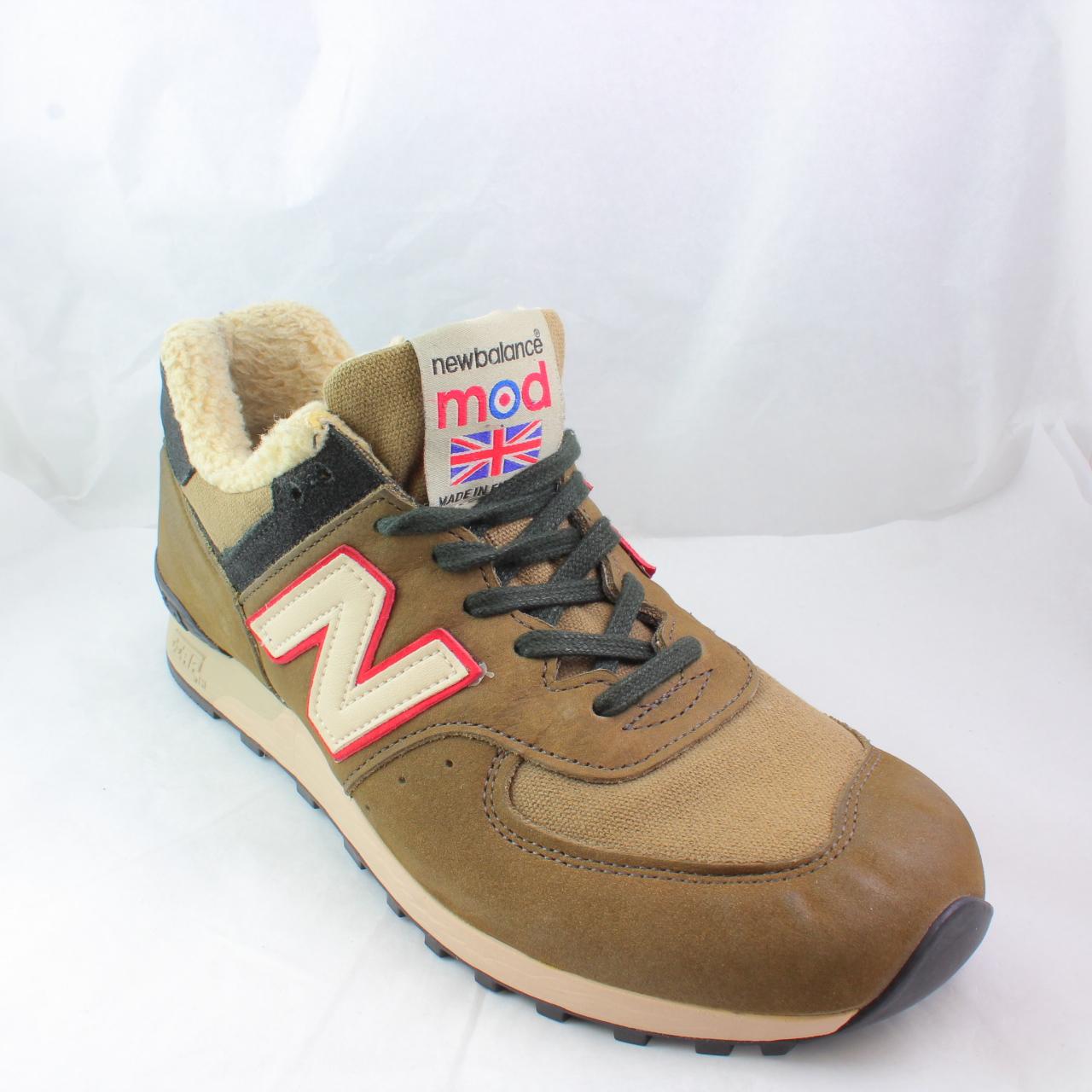 Da Uomo New Balance verdi in pelle scamosciata con lacci sneaker UK 8 EX DISPLAY