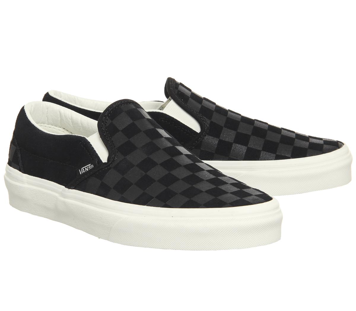 Mens Vans Vans Classic Slip On Trainers Black Marshmallow ... da65999e2