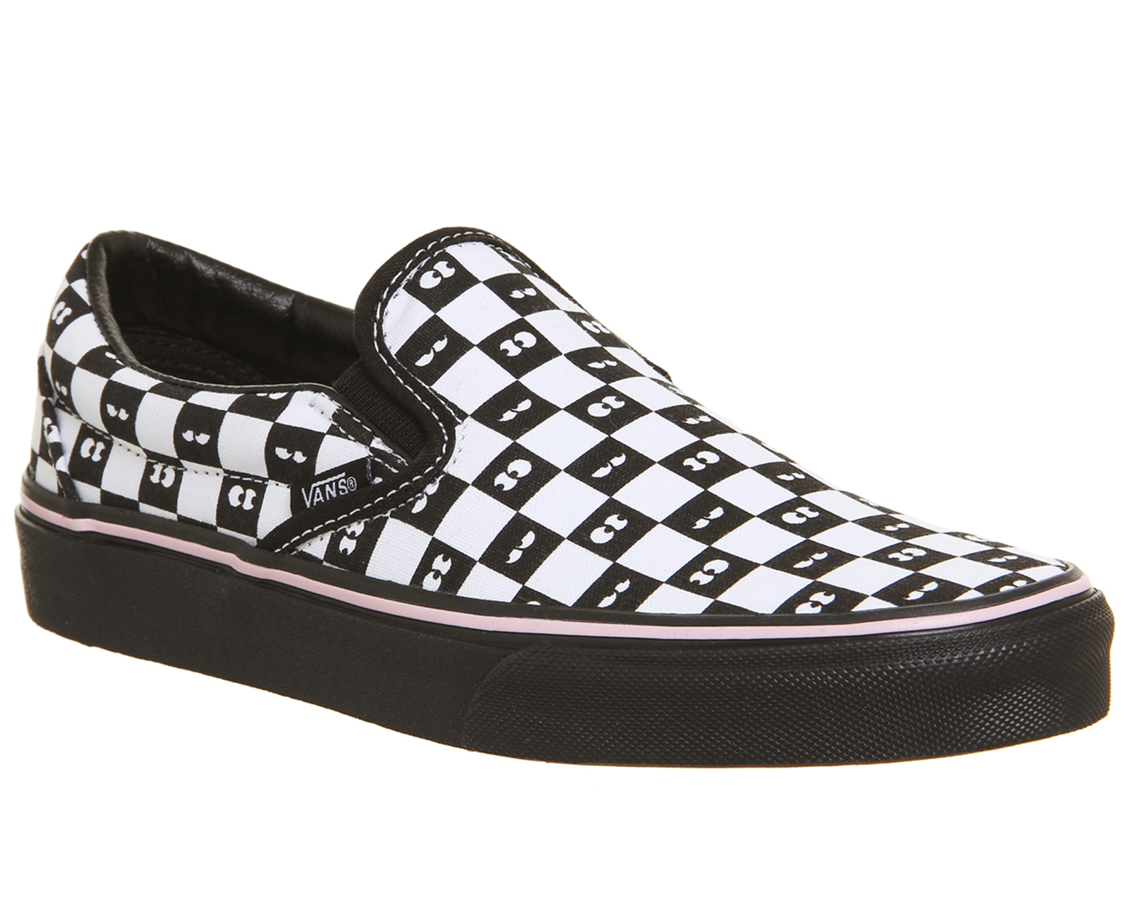 61e6b6623efdbb Sentinel Womens Vans Vans Classic Slip On Trainers Lazy Oaf Eyeballs  Checkerboard Trainer