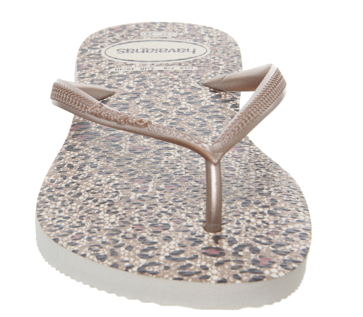 02722e7e44f7 Womens Havaianas Slim Animals Flip Flops Beige Rose Gold Sandals
