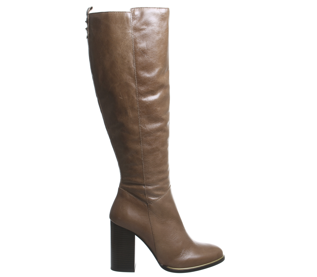 Womens Knee Office Kirby Smart Block Heel Knee Womens Boots TAN LEATHER Boots 19656c